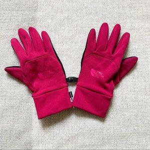 4/$25 - The North Face Magenta ETip Gloves Medium